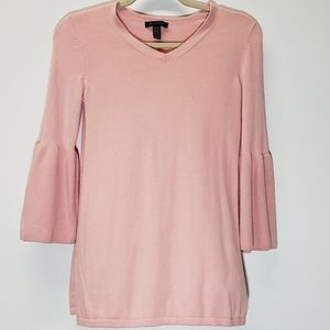H by halston Pink 3.4 Sleeve Top Size XXS